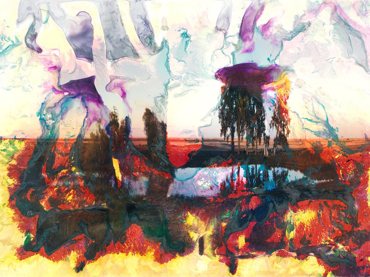 "An artwork by artist Matthew Brandt called ""Mary's Lake, MT 9"""