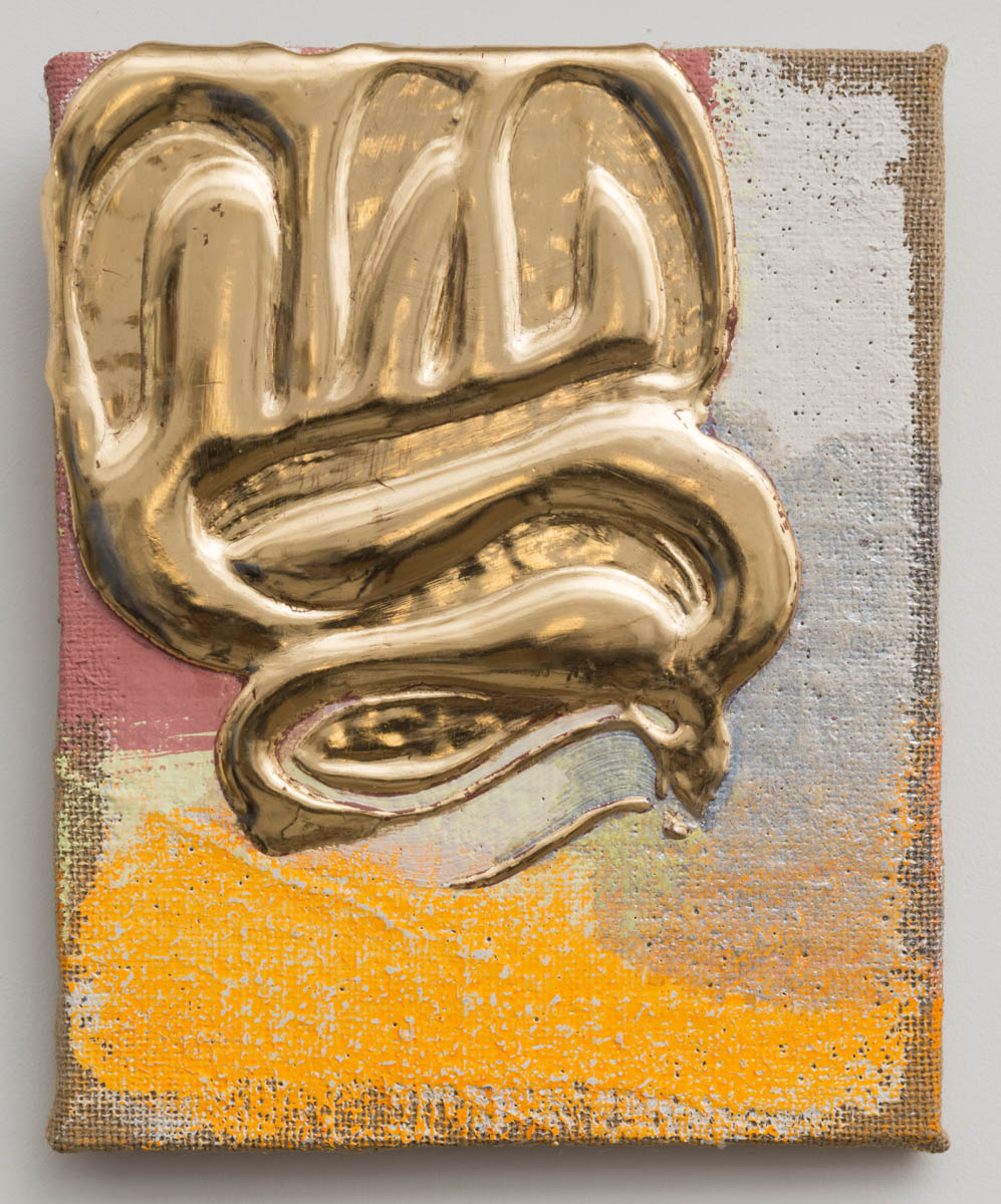 Nancy Lorenz, Red Gold Pour, 2013, 10 x 8 in.