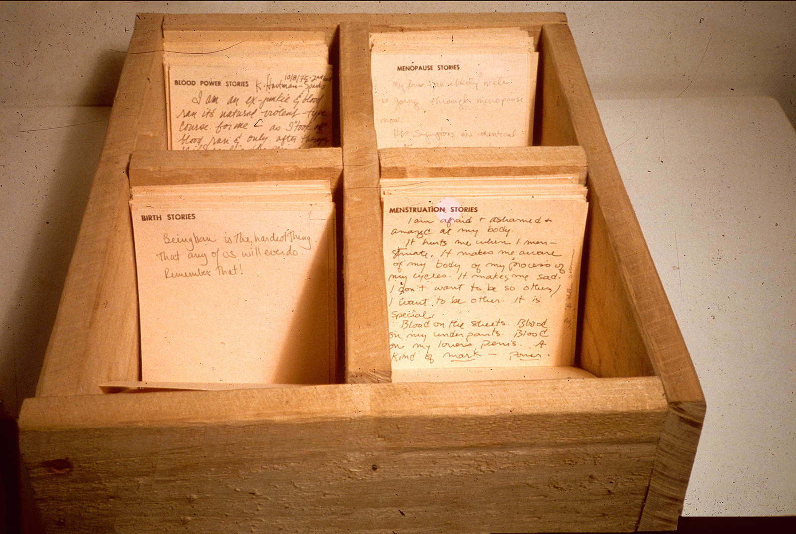 Mary Beth Edelsen, Story Gathering Boxes, VoCA Journal