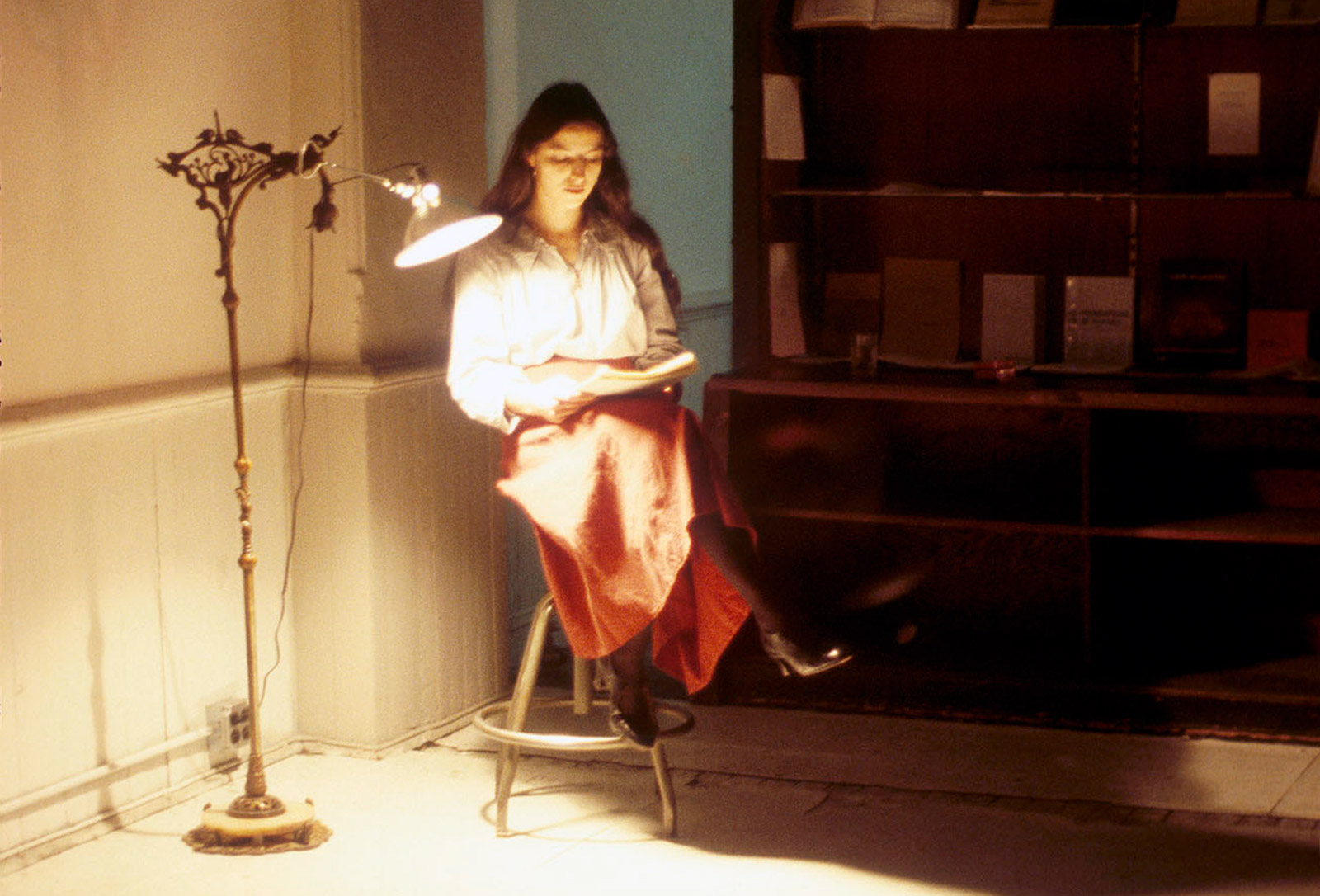 Caption: Martine Aballéa performance at Franklin Furnace 1976. Photo: Michael Katchen, courtesy of Franklin Furnace
