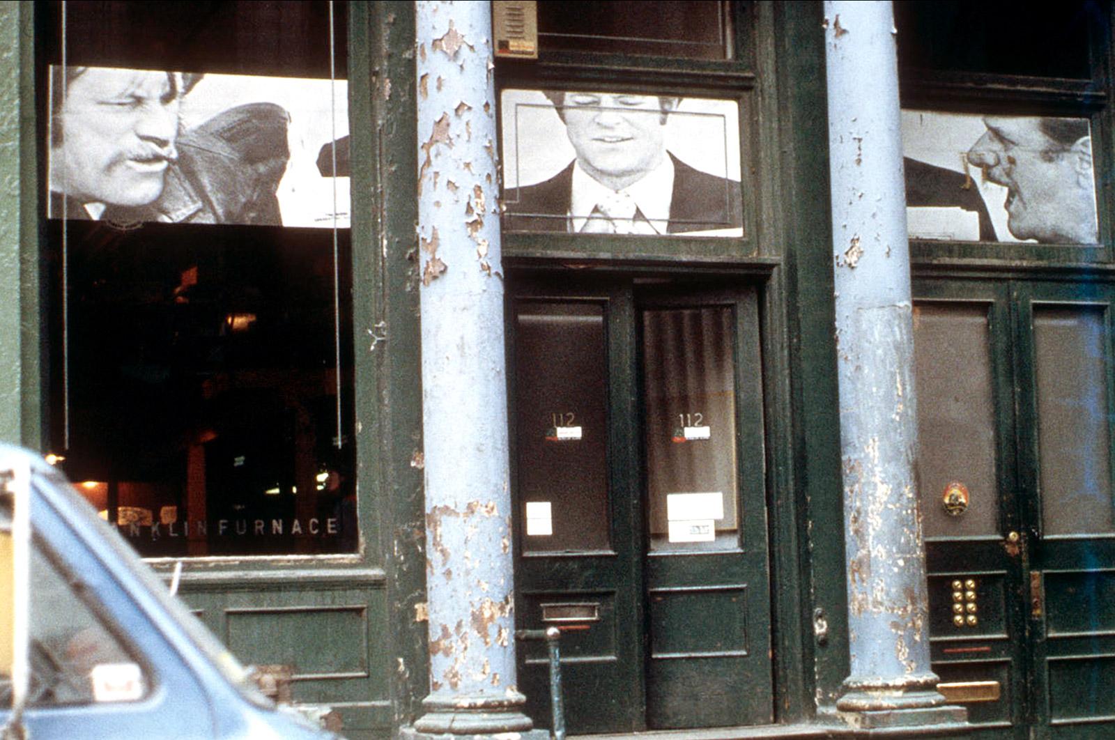 "Caption: Installation photograph for Dara Birnbaum, ""(Reading) Versus (Reading Into),""1978. Photo: Michael Katchen, courtesy of Franklin Furnace"