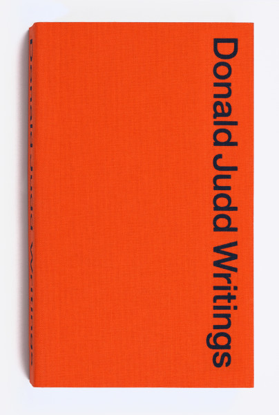 Donald Judd Writings, Cover image. Image: Sol Hashemi. Image © Judd Foundation.
