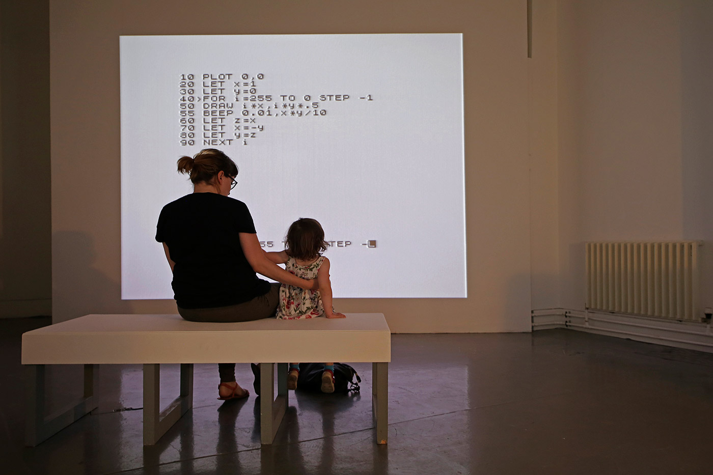 "JODI, All Wrongs Reversed©1982, 2004 Video, 45'50"", colour, sound Installation detail of 'JODI: Variable Art for the ZX Spectrum' (2016), Dundee Contemporary Arts (Visual Research Centre) Photo: Kathryn Rattra, courtesy NEoN Digital Arts"