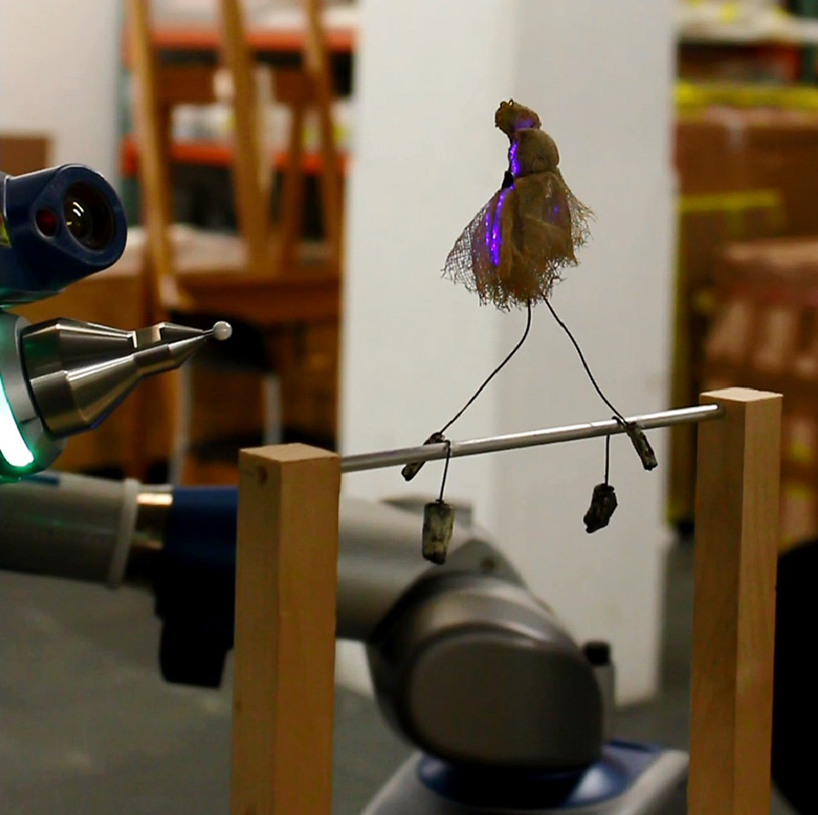 Photogrammetry scanning Tightrope Artist, (1926‑1931) from Calder's Circus at Whitney Museum, N.Y. Photograph by Eleonora Nagy and Direct Dimensions Inc., Owings Mills, MD. (http://www.directdimensions.com)