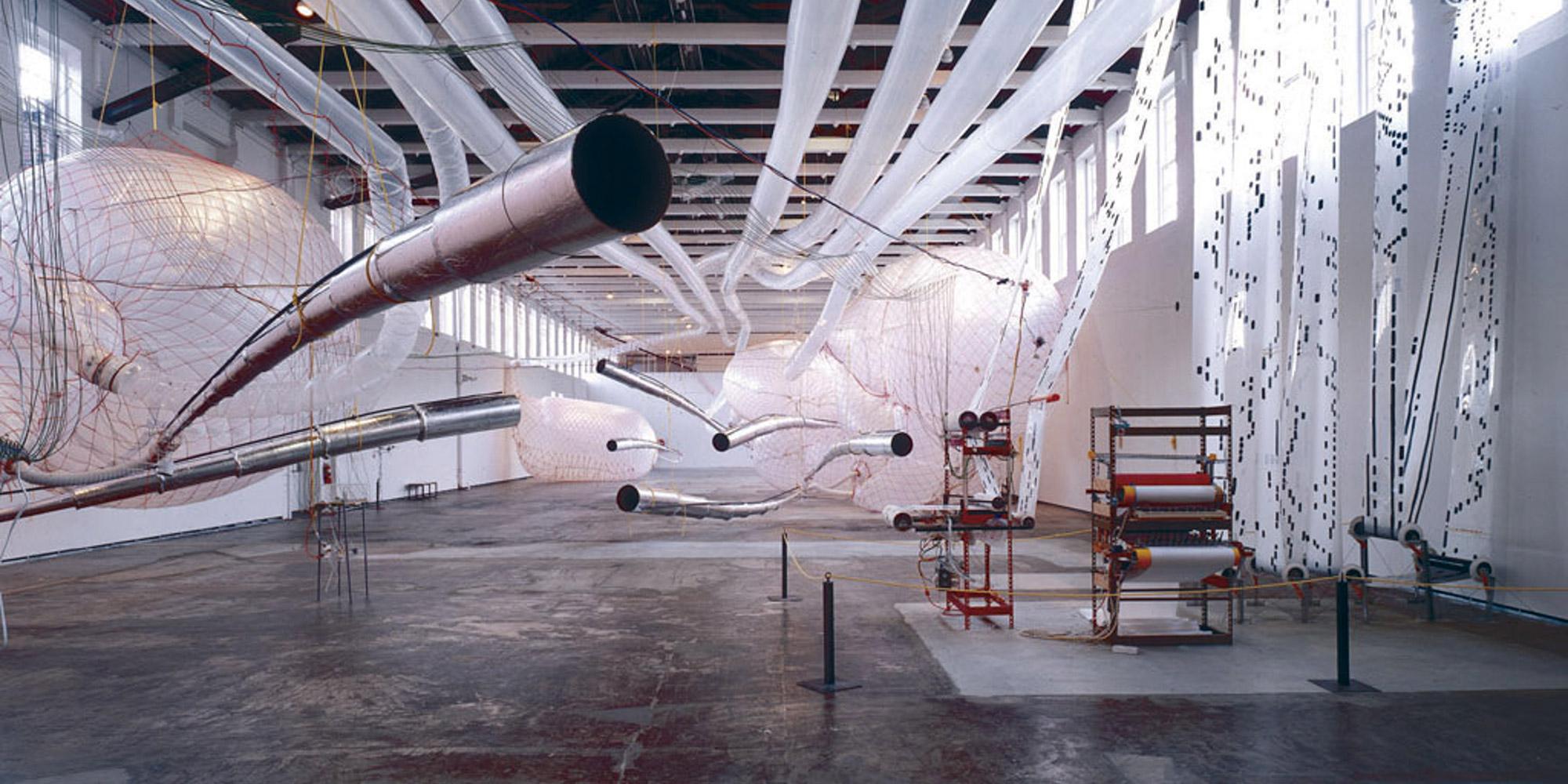 "Tim Hawkinson's ""Überorgan"" installed at Mass MoCA in 2000"